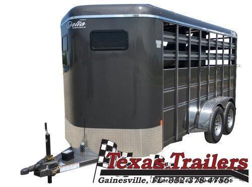 2021 Delta Manufacturing 500 Combo 16'  Livestock / Horse Trailer