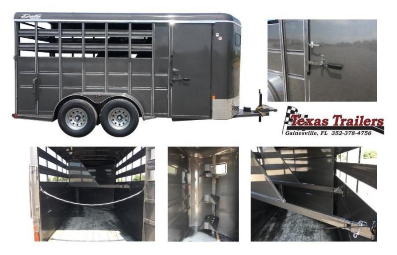 "2021 Delta Manufacturing 500 Combo  6' 8"" X 16'    Livestock / Horse 7' Tall' Trailer"