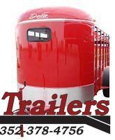 "2021 Delta Manufacturing 500 Combo  6' 8"" X 16'    Livestock / Horse 7' Tall' Trailer"