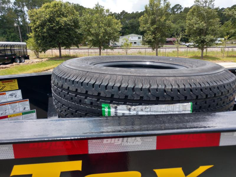 22GN-25BK+5MR BIG TEX 30' GOOSENECK DUAL TANDEM FLAT BED W/ MEGA RAMPS ; FREE SPARE TIRE