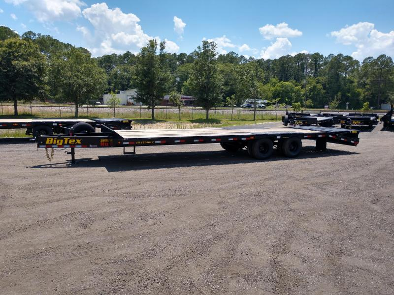 22PH-25BK+5MR BIG TEX 30' FLATBED TRAILER W/ MEGA RAMPS