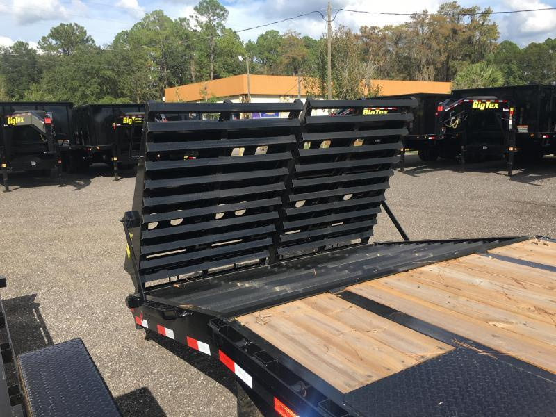 25GN-30BK+5MR BIG TEX 30' + 5' DUAL TANDEM DECKOVER FLATBED W/ 12K AXLES & LRG 14-PLY TIRES
