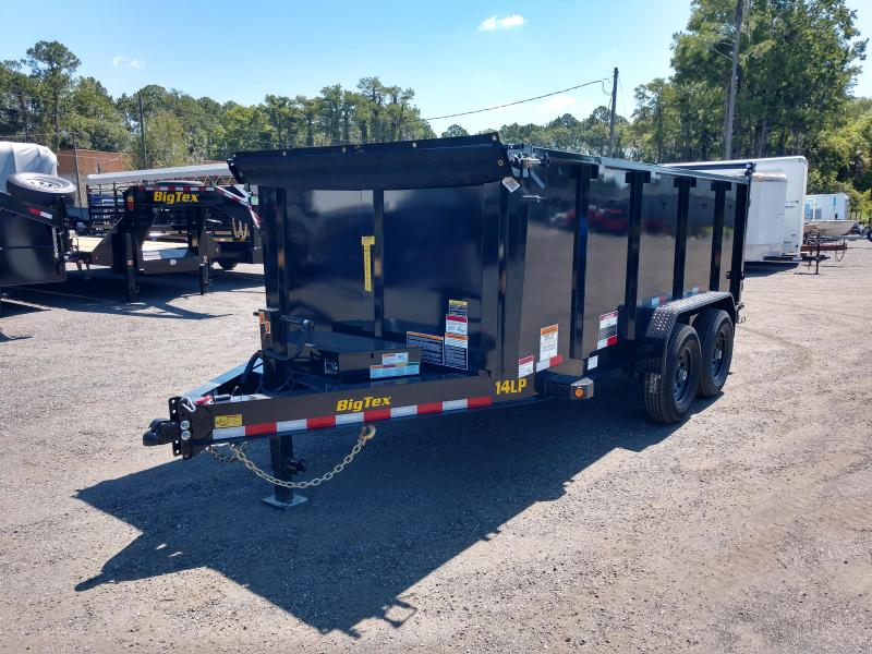 14LP-14BK6-P4 BIG TEX 7' X 14' DUMP TRAILER W/ TARP & 4' TALL SIDES