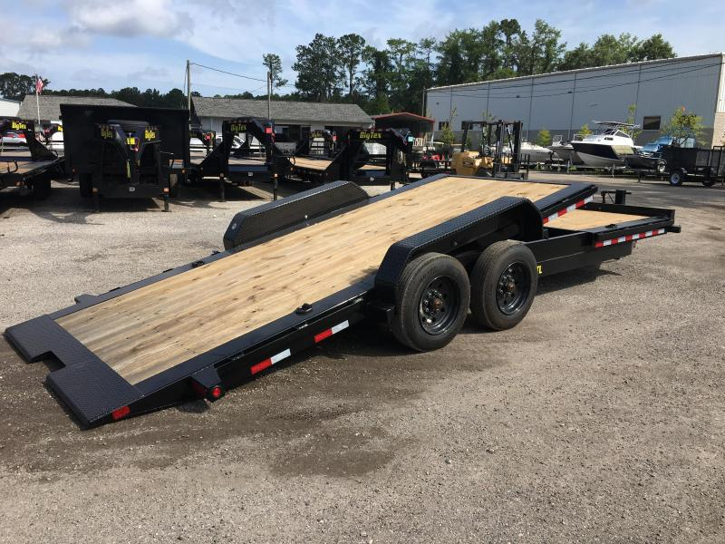 16TL-22BK BIG TEX 22' TANDEM AXLE TILT DECK EQUIPMENT TRAILER