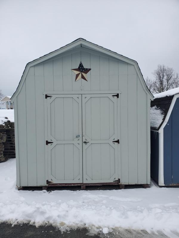 10x12 Super Barn - Lt. Green - Black Shingles - Loft - Shelf