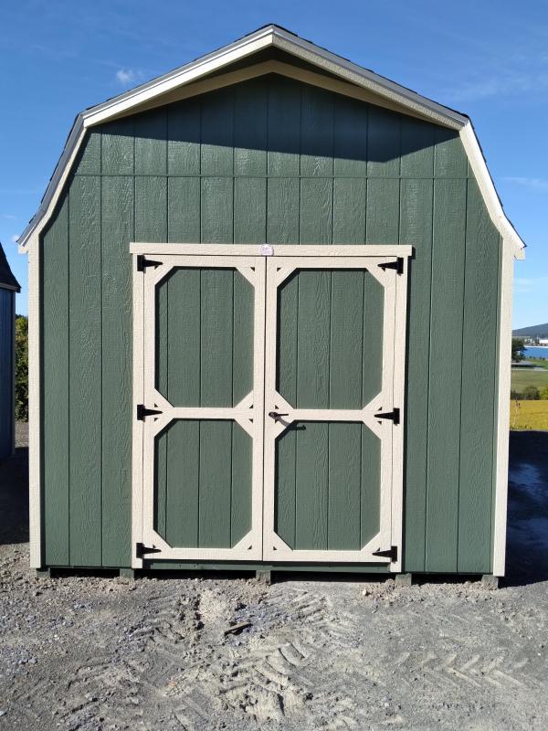 10x16 Super Barn / Rosemary / Beige Trim / Slatestone Gray Shingles