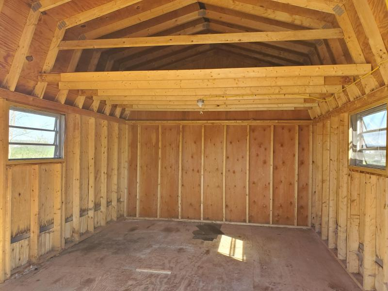 Used 12 x 16 Super Barn / Clay / Dk Brown / Dk Brown Shingles