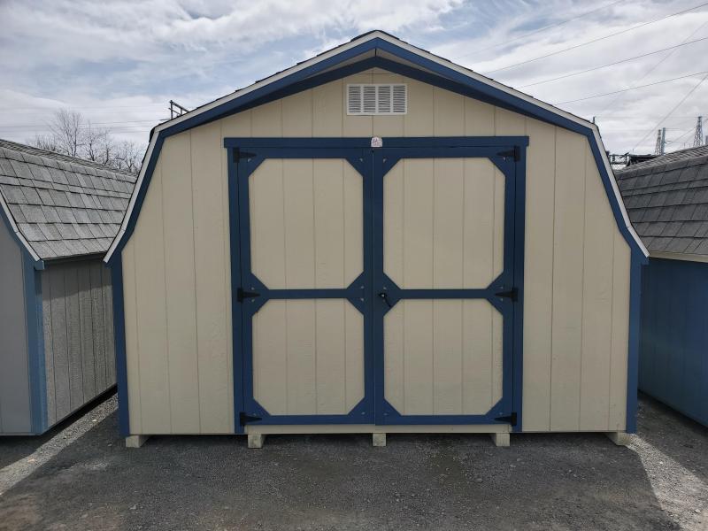 12x12 Mini Barn - Beige - Endless Sea - Olde English Pewter Shingles