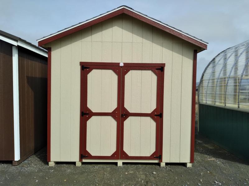 2021 Cottage - Beige Lp Smartside - Barn Red Trim - Slatestone Gray Shingles - 7' Studs