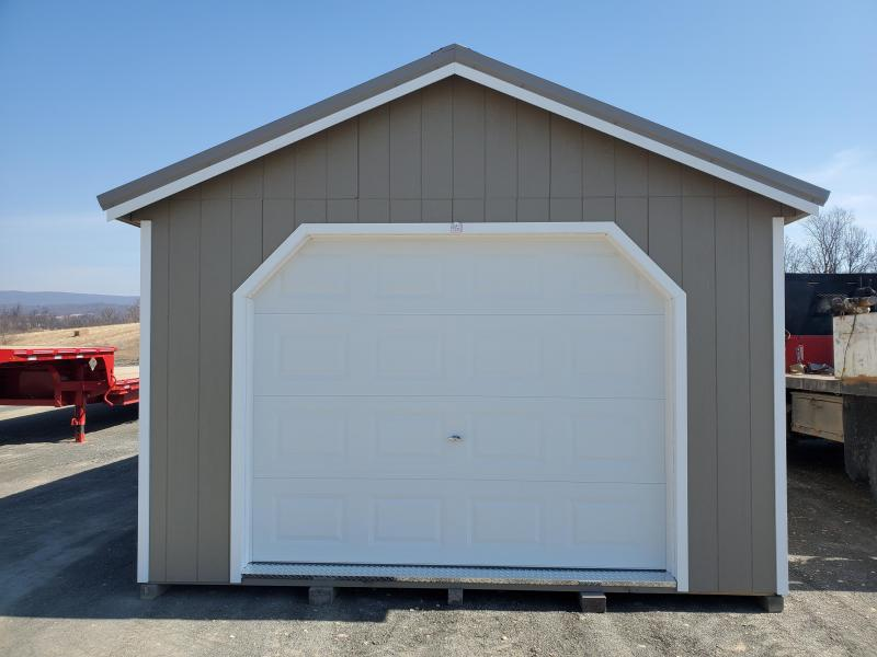 14x28 Cottage Garage / Clay  / White Trim / Clay Metal Roof