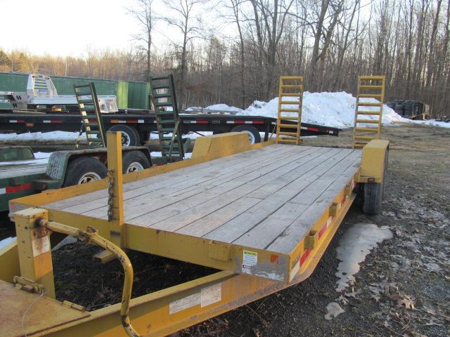 2016 Winston 20 Ft 7 Ton Trailer Equipment Trailer