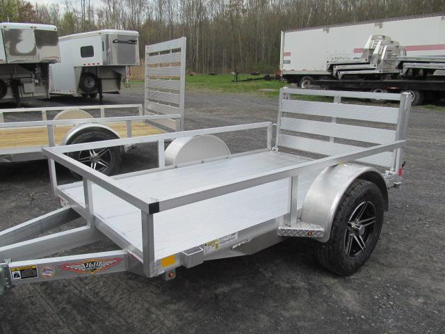H and H Trailer 5 X 8 Aluminum Rail Side Utility Trailer