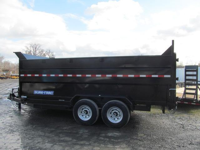 Sure-Trac 82 IN X 16 LP 4 Ft Side 14K Telescopic Dump trailer