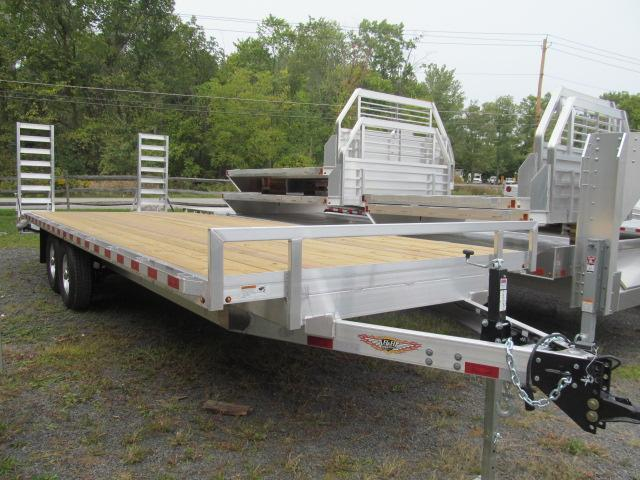 2021 H and H Trailer 8.5 X 24 Aluminum 7 Ton Deckover Equipment Trailer