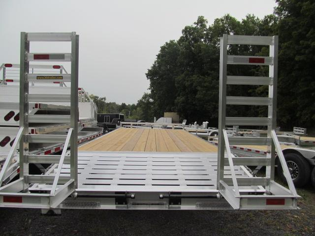 H and H Trailer 8.5 X 24 Aluminum 7 Ton Deckover Equipment Trailer