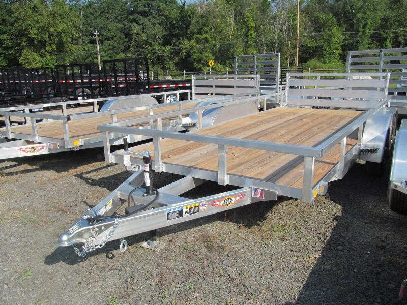 H and H Trailer Aluminum Rail Side 7 X 18 Utility Trailer Utility Trailer