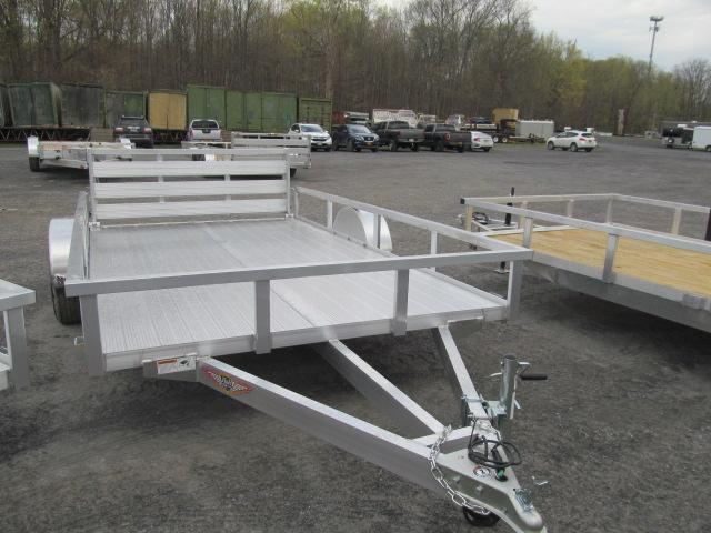 H and H Trailer 82 X 12 Aluminum Rail Side Utility Trailer