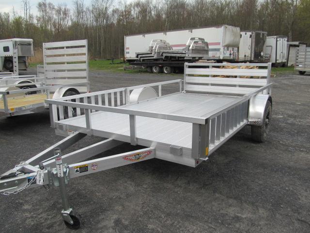 H and H 7 X 12 Aluminum Tube Top ATV Trailer