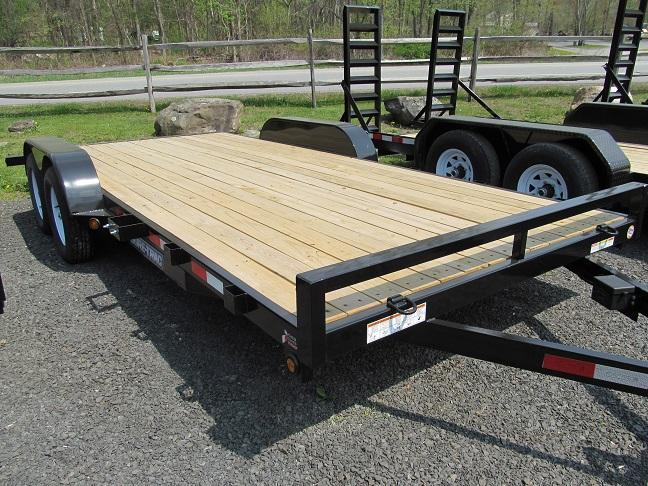 Sure-Trac 7 x 18 C-Channel Car Hauler Trailer  7K