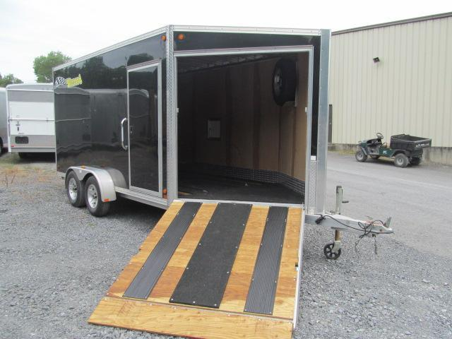 2016 Blizzard Drive On Drive Off All Aluminum 14 Ft V Front Enclosed Cargo Trailer