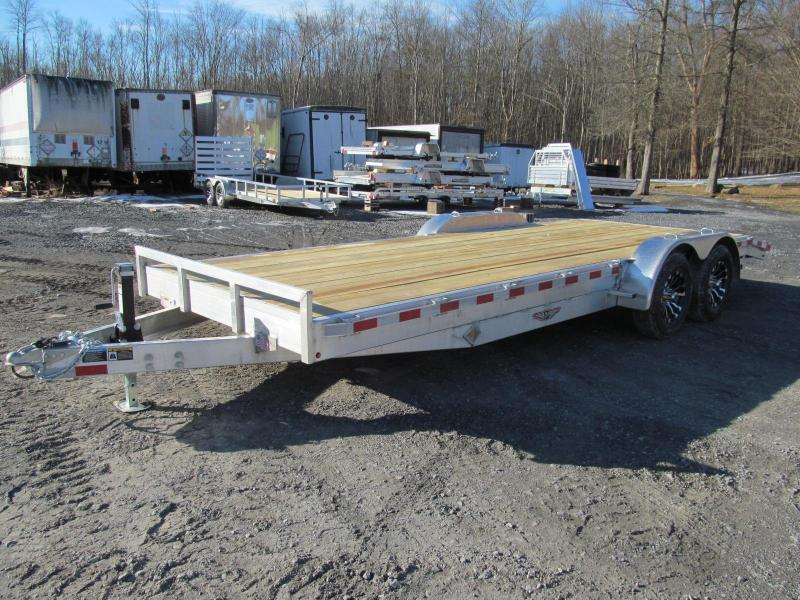 H and H Trailer Aluminum Flatbed 18 Ft 10K Equipment Trailer