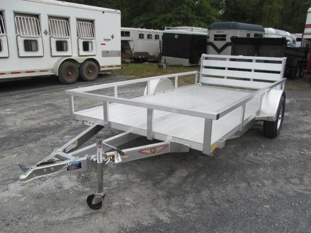 H and H Trailer 76 X 12 Aluminum Rail Side Utility Trailer