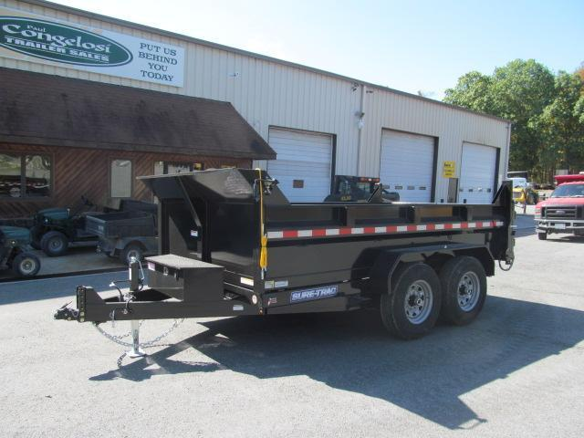 Sure-Trac 82 IN x 12 HD Scissor Lift Low Profile Dump Trailer