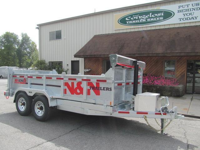 N and N HD Series 7 X 14 Galvanized Dump Trailer