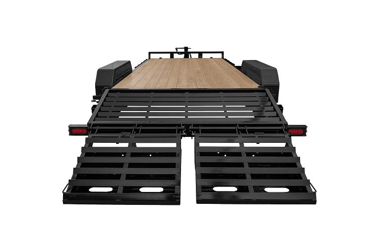 Sure-Trac 7 x 15+3 Universal Ramp Equipment Traile