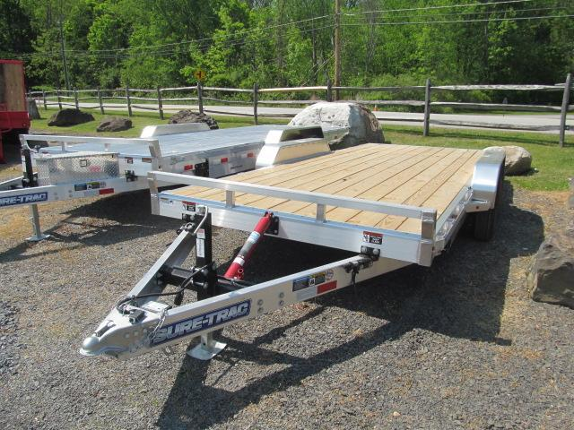 Sure-Trac 7 X 18 Aluminum Tilt Manual Car Hauler Car / Racing Trailer