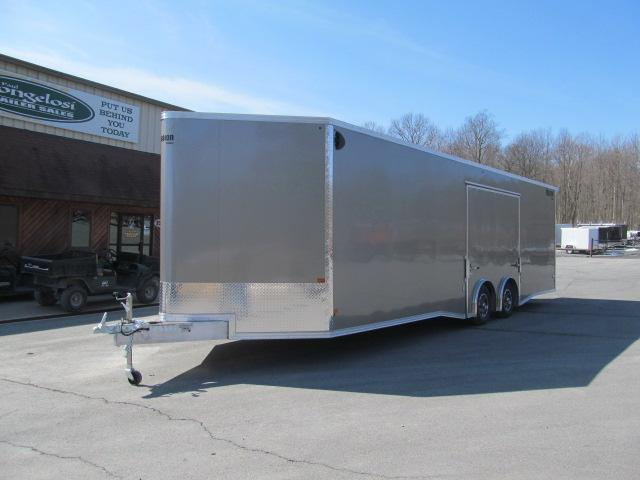 Mission 8.5 x 28 V Front All Aluminum Car Hauler Car / Racing Trailer