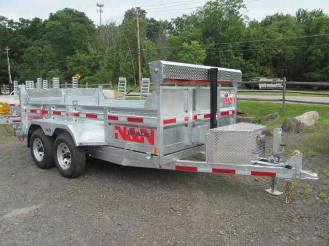 N and N Trailers 6 X 12 10K Galvanized INNO Dump Dump Trailer