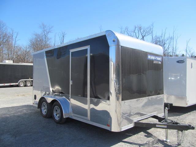 Sure-Trac 7.5 x 14 Enclosed Moto Pro Bullnose Cargo