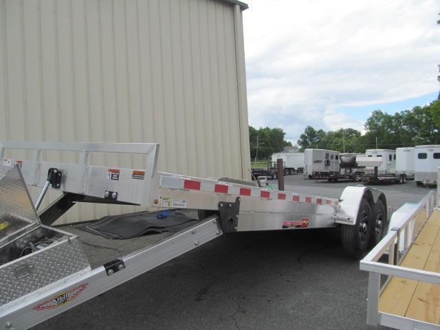 H and H Aluminum Speedloader 82 X 24 14K Equipment Trailer