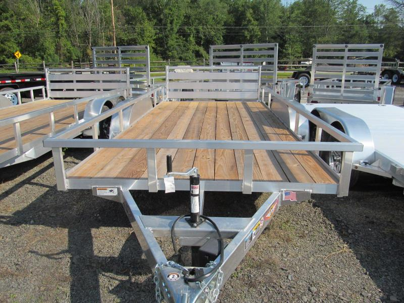 H and H 7 X 18 Aluminum Tube Top Utility Trailer