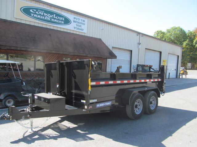 Sure-Trac 82 IN x 12 HD Low Profile Telescopic Lift Dump Trailer