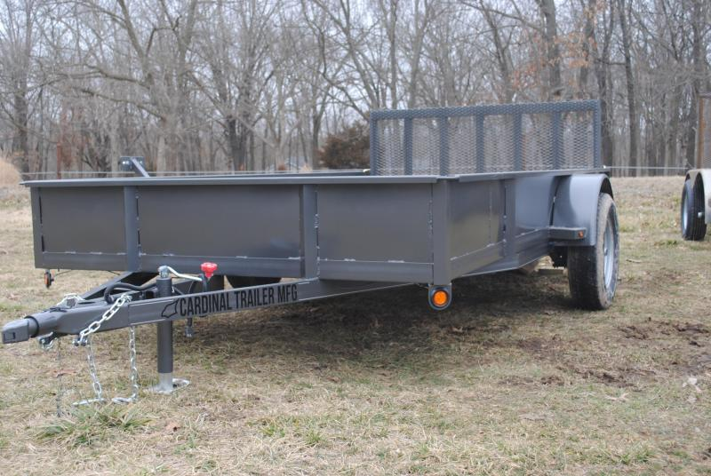 2021 Cardinal Trailer MFG 76X12 SINGLE AXLE SOLID SIDE Premium Utility Trailer
