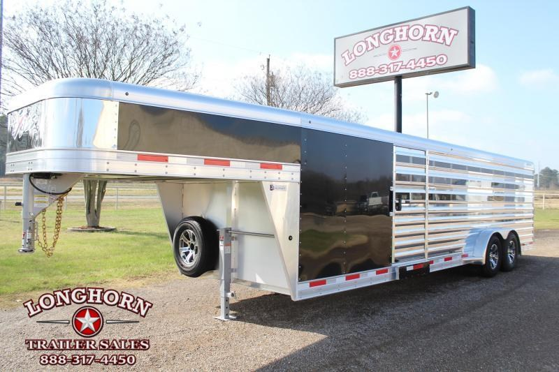2021 Exiss Trailers 10 Pen Low Pro with Side Ramp Livestock Trailer