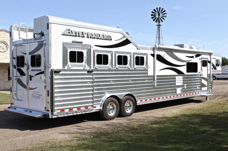 2021 Elite Trailers 4 Horse 16ft Living Quarter Side Load Slide Out Horse Trailer