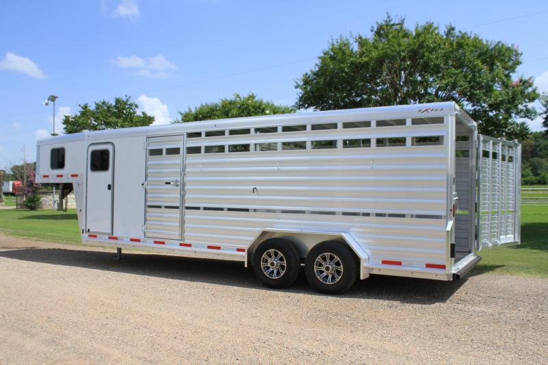 2022 Exiss Trailers 24' Stock Combo Livestock Trailer