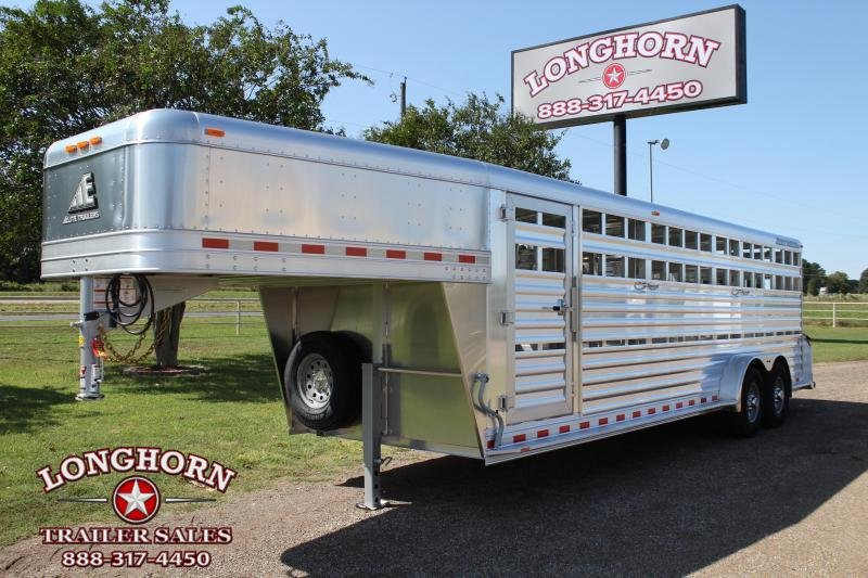 2021 Elite Trailers 24ft x 7ft Stock Trailer with Two Gates Livestock Trailer