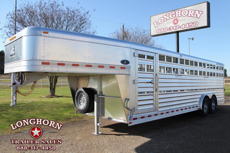 2021 Elite 24ft x 8ft Stock Trailer with Two Gates Livestock Trailer