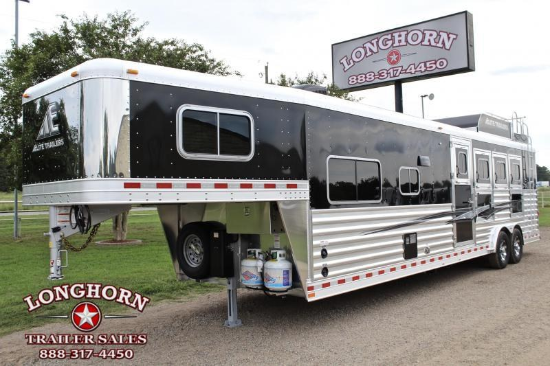 2021 Elite Trailers 4 Horse 12.8ft Living Quarter with Generator Horse Trailer