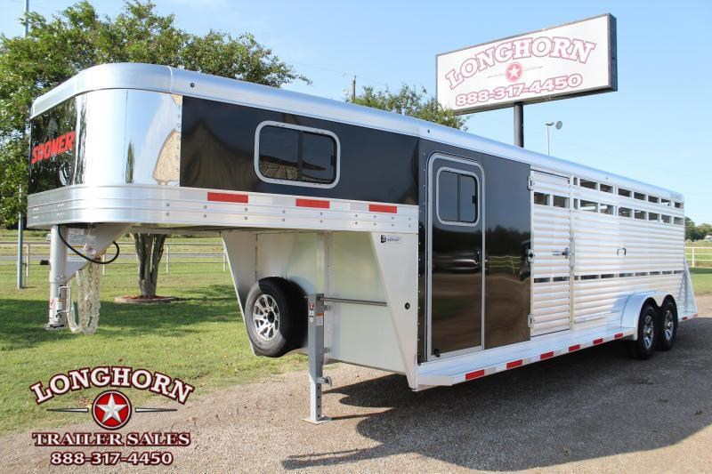 2021 Sooner 24ft Show Cattle Combo with 4 Pens Livestock Trailer