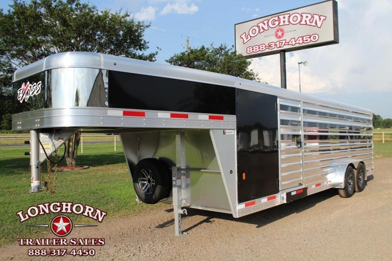 2020 Exiss Trailers 10 Pen Low Pro with Side Ramp and 4ft Tack Room Livestock Trailer