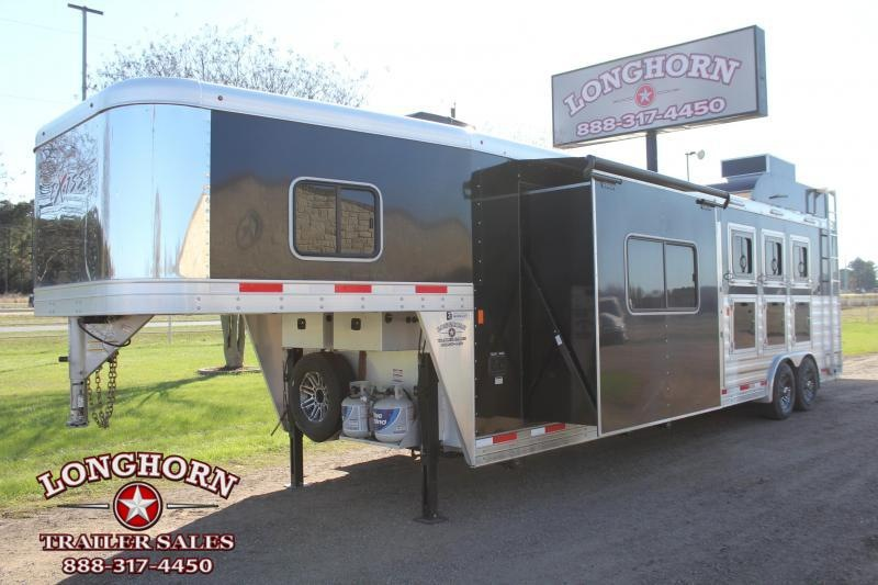 2019 Exiss Trailers 4 Horse 10.5ft LQ with Slide and Generator Horse Trailer