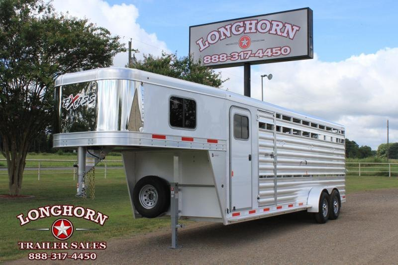 2020 Exiss Trailers 24ft Stock Combo with 4ft Tack Room