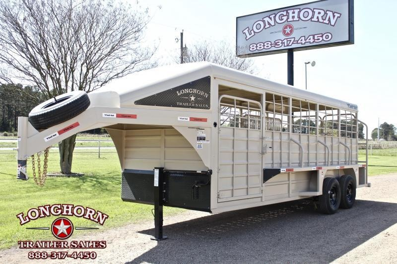 2021 Swift Built Trailers 20ft Stock Trailer with Full Metal Top Livestock Trailer