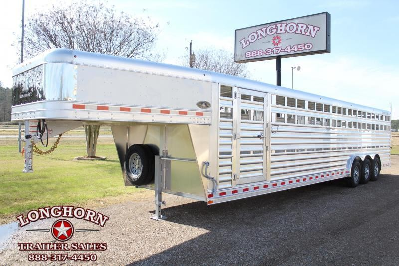 2021 Elite Trailers 32ft x 8ft Stock Trailer with Four Compartments Livestock Trailer
