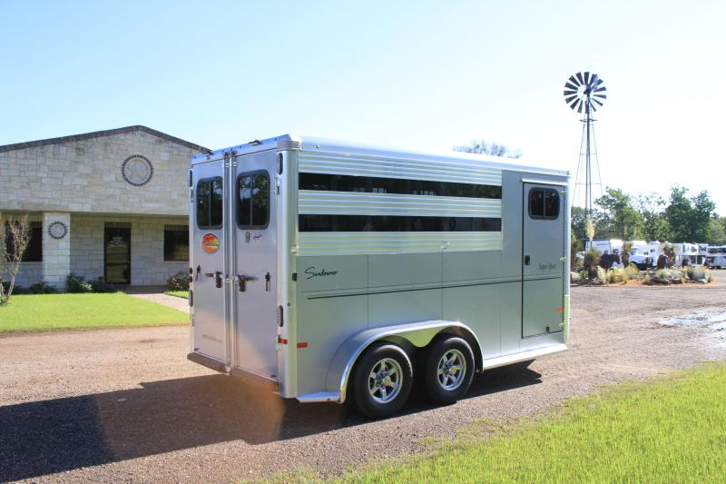 2021 Sundowner Trailers 3 Horse Bumper Pull with Front Tack Room